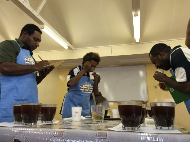 Coffee cupping competition